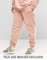Puma Plus Logo Joggers In Pink Exclusive To Asos 57533102