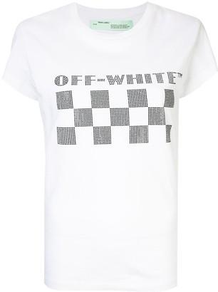 Off-White checkerboard logo T-shirt