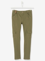 Vertbaudet Girls Slim Cut Combat-Style Trousers