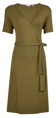 Dorothy Perkins Womens Tall Khaki Belted Wrap Dress