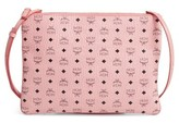 MCM Medium Visetos Coated Canvas Pouch - Pink