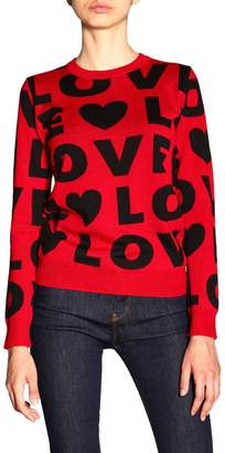 Love Moschino Sweater Long-sleeved Shirt With All Over Maxi Logo