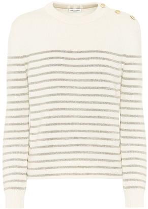 Saint Laurent Metallic-striped sweater