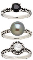 Honora Style Variegated Sterling Silver Ring Set 3