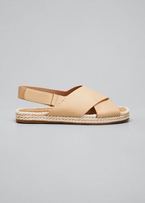 Vince Essen Crisscross Espadrille Flat Sandals
