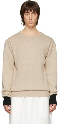 Random Identities Beige Knit Sweater