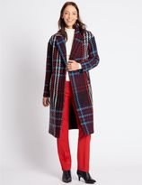 Marks and Spencer Checked Coat
