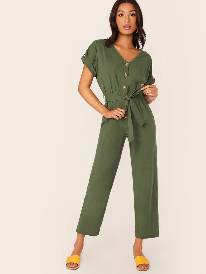 a77ac03ecd Army Green Jumpsuit - ShopStyle