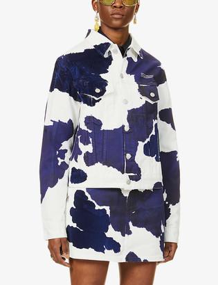 Off-White Cow-print denim jacket