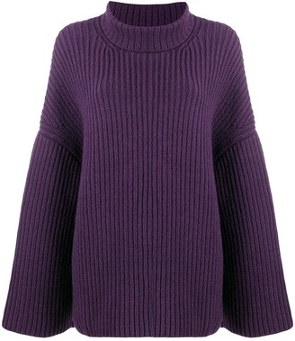 Nanushka Ribbed Knit Roll Neck Jumper