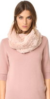 Jocelyn Fur Knitted Infinity Scarf
