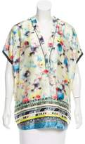 Yigal Azrouel Digital Print Sleeveless Top