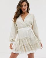 Asos Design DESIGN embellished mini dress in all over sequin with skater skirt