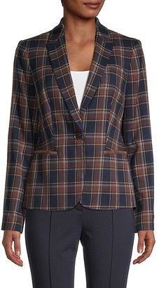 Tommy Hilfiger Plaid Button-Front Sportcoat