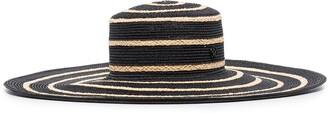 Maison Michel Ursula striped straw hat