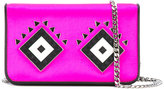 Les Petits Joueurs Lego embellished shoulder bag - women - Leather/Satin/metal - One Size