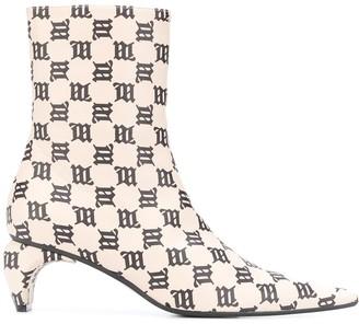 Misbhv Monogram Ankle Boots