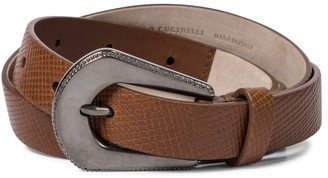 Brunello Cucinelli Embellished leather belt
