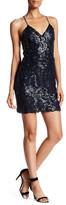 Greylin Surplice V-Neck Sleeveless Embellished Sequin Dress