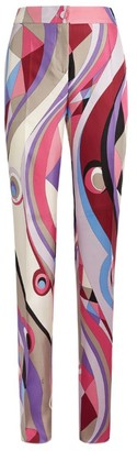 Emilio Pucci Wide-Leg Silk Trousers