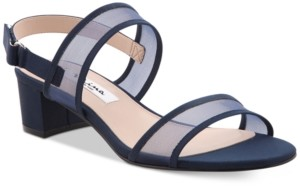 Nina Ganice Block-Heel Evening Sandals Women's Shoes