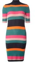 Dorothy Perkins Womens **Noisy May Multi Coloured Knitted Striped Dress- Fl Multi