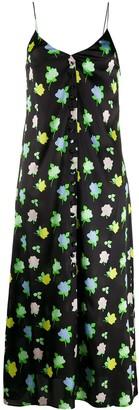 BERNADETTE Hailey floral silk slip dress