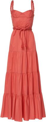 Johanna Ortiz Calming Spirit Tiered Cotton Maxi Dress