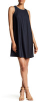 Modern American Designer Stitched Trim Denim Dress