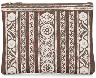 Etro Floral Embroidered Clutch Bag