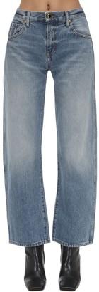 KHAITE Cropped Cotton Denim Jeans