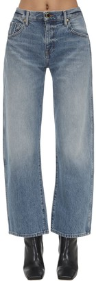 KHAITE CROPPED COTTON DENIM JEANS