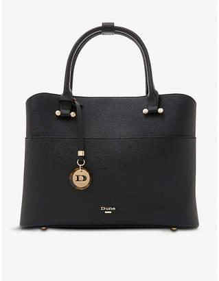 Dune Daring faux-leather shopper bag
