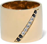 Elizabeth and James Paxton gold-tone crystal ring