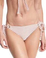 Mara Hoffman Striped Terry Tie-Side Swim Bottom, Pink