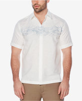 Cubavera Men's Embroidered Linen Palm Shirt