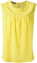 Rochas round neck shift blouse - women - Silk - 38