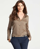 Ann Taylor Tall Charming Dot Blouse
