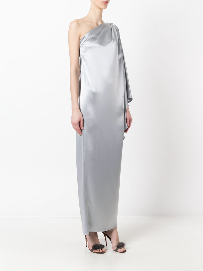 Gianluca Capannolo one shoulder gown