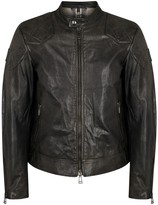Belstaff Outlaw Anthracite Waxed Leather Jacket