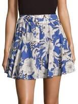 Lovers + Friends Floral-Print Flared Mini Skirt
