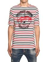 DSquared Striped Fishing Cotton Jersey T-Shirt