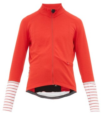 Café Du Cycliste Arlette Striped-cuff Cycle Top - Mens - Red Multi