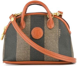 Fendi Pre Owned Fendi Pequin pattern 2way mini hand bag