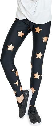 Terez Girl's Foiled Star-Print Leggings, Size 7-14