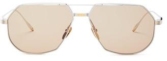 Jacques Marie Mage Reynold Aviator Titanium Sunglasses - Silver Multi