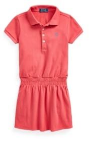 Polo Ralph Lauren Toddler Girls Smocked Mesh Polo Dress