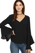 LuLu*s Contented Sigh Black Long Sleeve Top