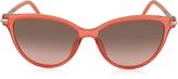 Marc Jacobs MARC 47/S TOTFX Coral Acetate Cat Eye Women's Sunglasses
