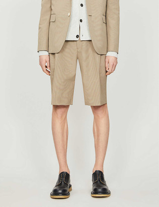 Fendi Houndstooth slim-fit woven shorts